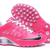 Women's Nike Shox Avenue 808 Shoes White/Peach