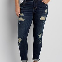 DenimFlex™ plus size skinny boyfriend jeans with destruction | maurices