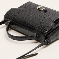Cross-body croc-effect bag - Women | MANGO USA