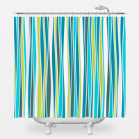 Cool Waves Shower Curtain