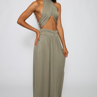 Love Indie - Cross My Heart Maxi Dress - Khaki