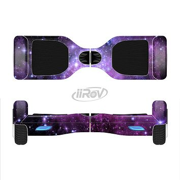 The Violet Glowing Nebula Full-Body Skin Set for the Smart Drifting SuperCharged iiRov HoverBoard