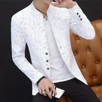 Casual Blazer Masculino Men Blazer Slim Fit Casaco Masculino Purple Mens Blazers Spring Summer Men White Blazer