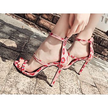 Fashionable open-toed sexy super-high heel sandals