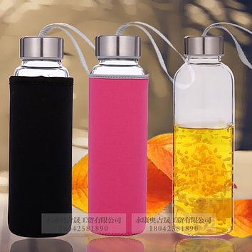 High Temperature Resistant Fashion Water Cup Portable Sports Water Bottle Creative Glass Cup Tea Cup Glass
