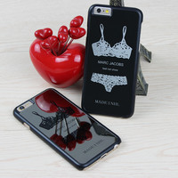 Sexy Mirror Case for iPhone 5 5S 6 6S 6 6S Plus Hard Case with Lace Bra Top Sexy Chrome Silver Mirror Case for iPhone 6 Case Cover Shell