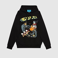 Disney x Gucci Donald Duck hooded sweatshirt