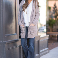 To Love Somebody Cardigan, Light Mocha