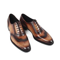 Handmade vintage retro designer Wedding Party dance luxury male dress Genuine Leather Men Oxford Shoes