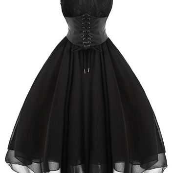 Atomic Black Gothic Corset Dress