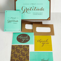 A Year of Gratitude Notecard Set by ModCloth