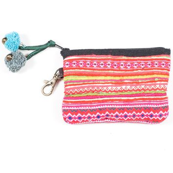 Vintage Hmong Hill Tribe Coin Purse (Thailand) - Style 18