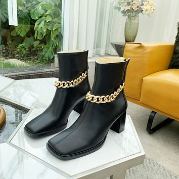 Givenchy2021 Trending Women's men Leather Side Zip Lace-up Ankle Boots Shoes High Boots08140gh