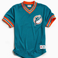 Mitchell & Ness NFL Miami Dolphins Mesh V-Neck Top - Urban Outfitters