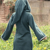 Legend of zelda inspired cosplay Green Elven tunic - Medieval tunic - hyrule - Pixie hoodie - Halloween- festival tunic - pointy hood