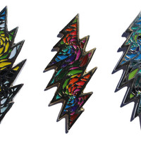 Limited Edition Swirled Grateful Dead 13 Point Bolt Hat Pin