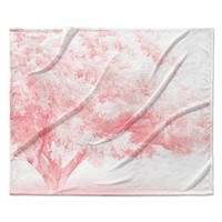 """Sylvia Coomes """"Pink Frost """" White Photography Fleece Throw Blanket"""