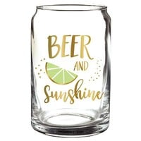Beer, Lime, Sunshine Beer Glass