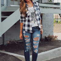 Tanner's Orchard Flannel - Navy