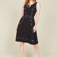 A Lot to Author A-Line Dress in Black | Mod Retro Vintage Dresses | ModCloth.com