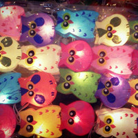 20 x handmade paper OWL colorful paper lantern hanging string light bedroom kid room gift night light