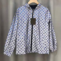 LV Louis Vuitton Fashion Reflective Hooded Zipper Cardigan Jacket Coat Windbreaker Sportswear