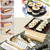 New DIY Cooking Tools Sushi Kit Home Kitchen Healthy Sushi Roll Maker 11pcs sushi tools kit Kitchen Utensil Supplies