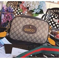 GUCCI Classic Popular Women Leather Crossbody Satchel Shoulder Bag
