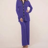 Fleur't 5602 Dreaming Of You Button Front Two Piece Pajama Set