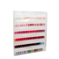 Acrylic Wall Rack Organizer Holds up to 102 Bottles Nail Polish (Made in USA)