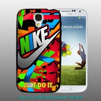 Nike Just Do It Full Color - design for Samsung Galaxy S4 Black case
