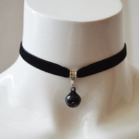 Kitten play day choker - velvet ribbon - with blck bell - kittenplay ddlg cute necklace for everyday wearing