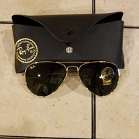RAY-BAN RB 3025 AVIATOR GOLD AUTHENTIC SUNGLASSES