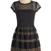 ModCloth Cap Sleeves A-line Such a Vibrant Swing Dress