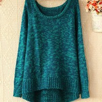 Bohemian Scoop Neck Kniting Christmas Casual Sweater For Women