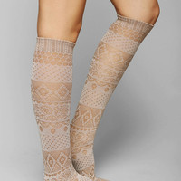 Floral Crochet Knee-High Sock - Urban Outfitters