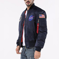 NASA Jacket Men Bomber Ma1 Men Bomber Jackets Nasa Air Force Baseball Military Thin Section Bomber Jacket And Coats SMC0296-4.9