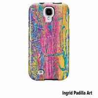 Distressed, Samsung Galaxy S4 Case, Funky, Abstract, Art, Samsung,GalaxyS4, phone cases