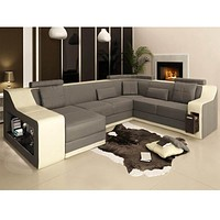 Superior Luxury Light Sofa Set With LED Lamp
