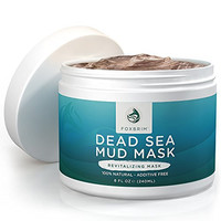 Dead Sea Mud Mask - 100% NATURAL Face Mask - Detoxifying & Skin Clarifying - Sacred Dead Sea Mud NO ADDITIVES or Fillers - Clears Skin - Restorative Anti Aging Mask - Imported from Israel - 240mL/8OZ