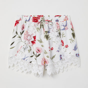 H&M Lace-trimmed Shorts $24.99