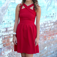 Double Crossed Dress {Red}