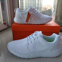 """""""Nike Roshe Run"""" Unisex Classic Sport Casual Solid Color Running Shoes Couple Fashion Light Sneakers"""