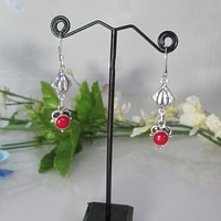 Queen of Passion Coral Earrings