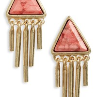 Treasure & Bond Triangle Fringe Stud Earrings | Nordstrom