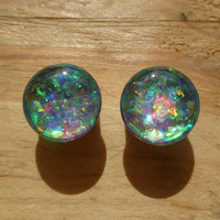 Starlight prism plugs - gauges 0g, 00g, 1/2, 9/16, 5/8, 11/16, 3/4, 7/8, 1 inch faux opal