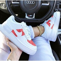 Nike X GUCCI Nike WMNS Air Force 1 ShadowTropicalTwist Sneakers White pink print