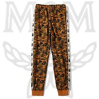 Onewel MCM X BAPE  Pants tide brand camouflage desert Sport Trousers brown