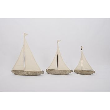 Driftwood and Canvas Sailboat