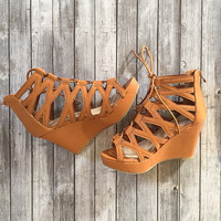 Cross My Heart Wedges